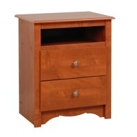 Prepac Monterey Collection Tall 2-Drawer Nightstand, Multiple Finishes