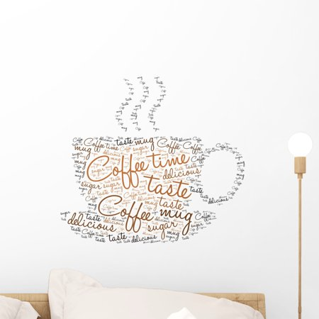 - Coffee Time Tag Cloud Wall Decal Sticker, Wallmonkeys Peel & Stick Vinyl Graphic (18 in W x 16 in H)