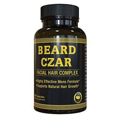 Human Growth Complex Side Effects - The Beard Czar - Facial Hair Complex - Highly Effective Men's Formula - Supports Natural Hair Growth - Improve Beard Quality and Nourishment - 60 Capsules