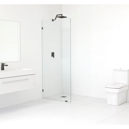 Glass Warehouse  78-inch x 30-inch Frameless Shower Single Fixed (Glass Fixed Panel)