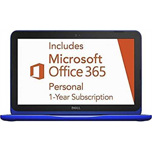 Refurbished Dell Inspiron 11.6 Laptop Intel Celeron 2GB Ram 32GB eMMC Flash Memory Bali Blue I3162-0000BLU