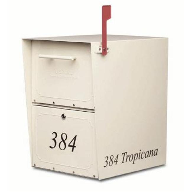 Architectural Mailboxes 5100S Oasis Curbside Locking Mailbox 20x13.5x18.5 Inch - Sand