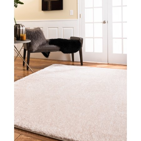 NaturalAreaRugs Merida Polyester Shag Area Rug, Soft Shag Pile, Stain Resistant, Durable, Luxurious, Eco-Friendly, Champagne Color, (6 Feet X 9 (Merida Big Nine 100 Price In India)