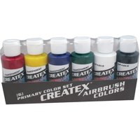 Createx Airbrush Color Set, Primary Kit