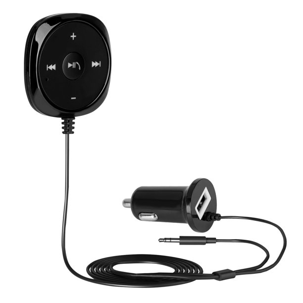 Bluetooth Car Kit Bluetooth Receiver Bluetooth Hands Free Audio Adapter Compatible With Smartphone Ipad Ipod And Other Devices With 3 5mm Aux Port Walmart Com Walmart Com