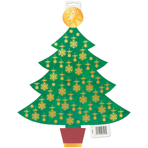 Golden Christmas Tree Cut Out Decoration