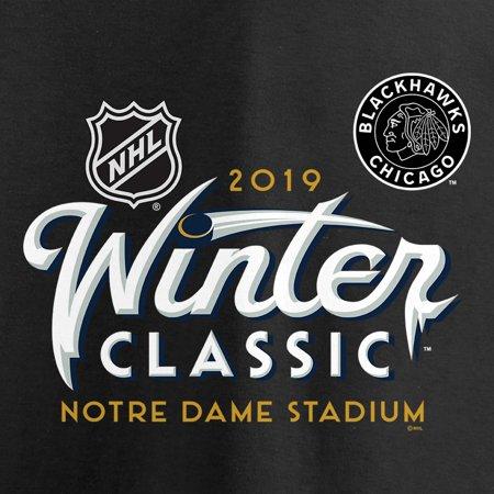 4f653942a Chicago Blackhawks Fanatics Branded Women s 2019 NHL Winter Classic Ice V- Neck Long Sleeve T-Shirt - Black - Walmart.com