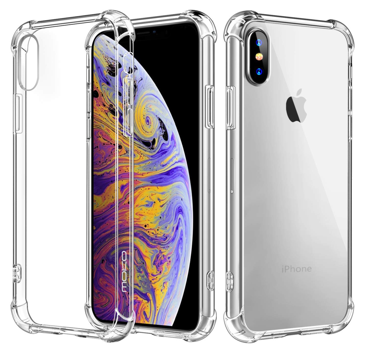 iphone xs case iphone x case crystal clear reinforced. Black Bedroom Furniture Sets. Home Design Ideas