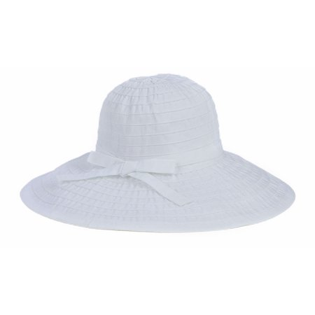 San Diego Hat Company Women's Large Brim Hat O/S White