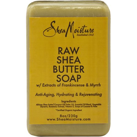 (3 pack) SheaMoisture Raw Shea Butter Soap, 8.0 Oz