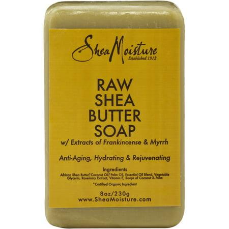 (3 pack) SheaMoisture Raw Shea Butter Soap, 8.0