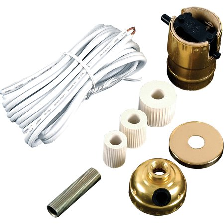 GE Bottle Lamp Kit, includes 8ft. Cord, Socket, Bottle Adapters, Fittings,