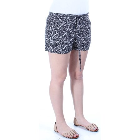 BEBOP Womens Black Tie Floral Cropped Intimates Short Juniors  Size: M