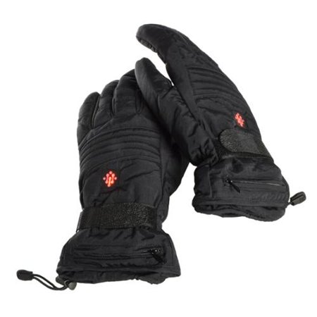 Ivation Heated Gloves  Electric Rechargeable Fleece Lined W  3 Led Temperature Control Levels  Includes 2 3 7V Li Ion Batteries For Quick   Even Heating  Adjustable Velcro Band  Works Up To 8 Hours