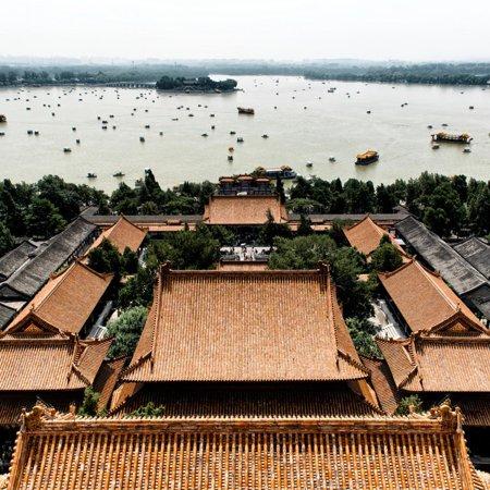 China 10MKm2 Collection - Summer Palace and Lotus Lake Print Wall Art By Philippe Hugonnard