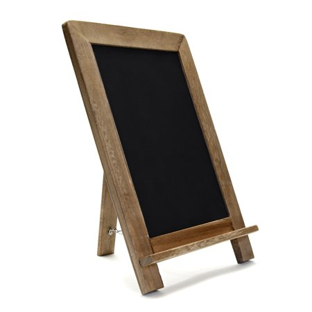 "VersaChalk Wood Framed Standing Chalkboard Sign, 13"" x 9"""