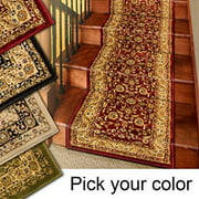 25' Stair Runner Rugs - Marash Luxury Collection Stair Carpet Runners (Red)