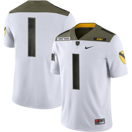 #1 Army Black Knights Nike 1st Cavalry Division Limited Edition Jersey - White Nike Air Limited Edition
