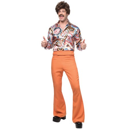 70's Dude Adult Costume (Rust)