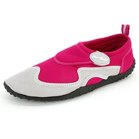 Just Speed Ladies Aqua Shoes Aqua Socks- Breathable Material, Maximum Slip Resistances and Feet Protection To Provide Improve Performance-Fuchisa/Gray 6 - Jango Fett Shoes
