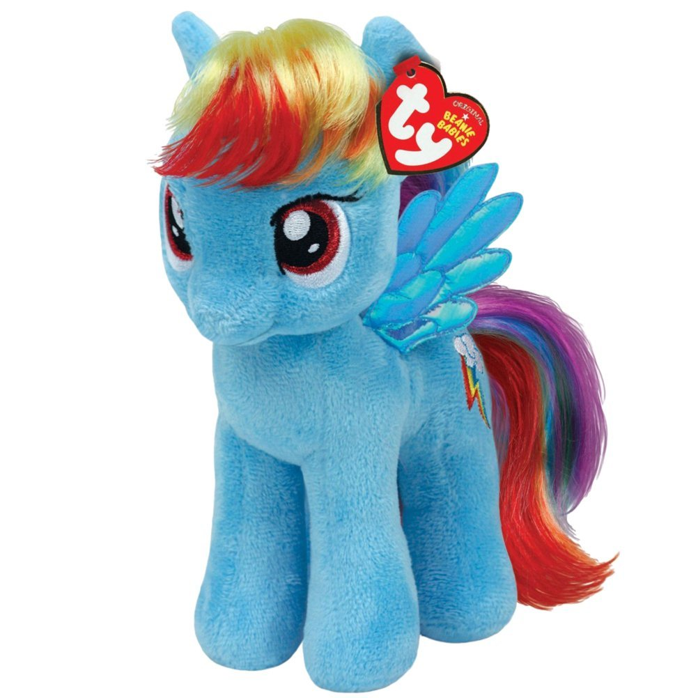TY The Beanie Babies plush Rainbow Dash 17 cm, Style number: 41005 By My Little Pony by