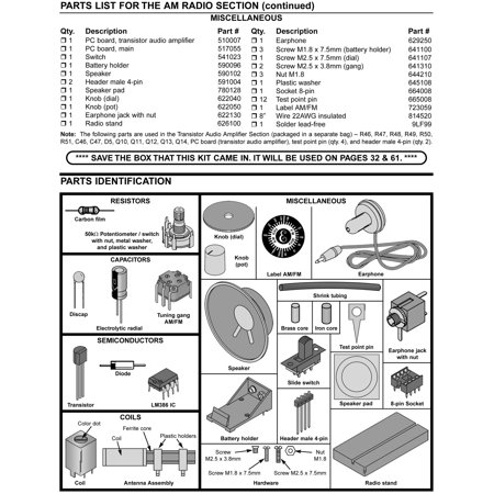 Elenco Am/Fm Radio Kit (Combines Ics & Transistors) | Walmart Canada