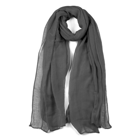 Long Warm Shawl Large Soft Solid Color Scarf for Women Men Dark Gray-2 - image 1 of 1