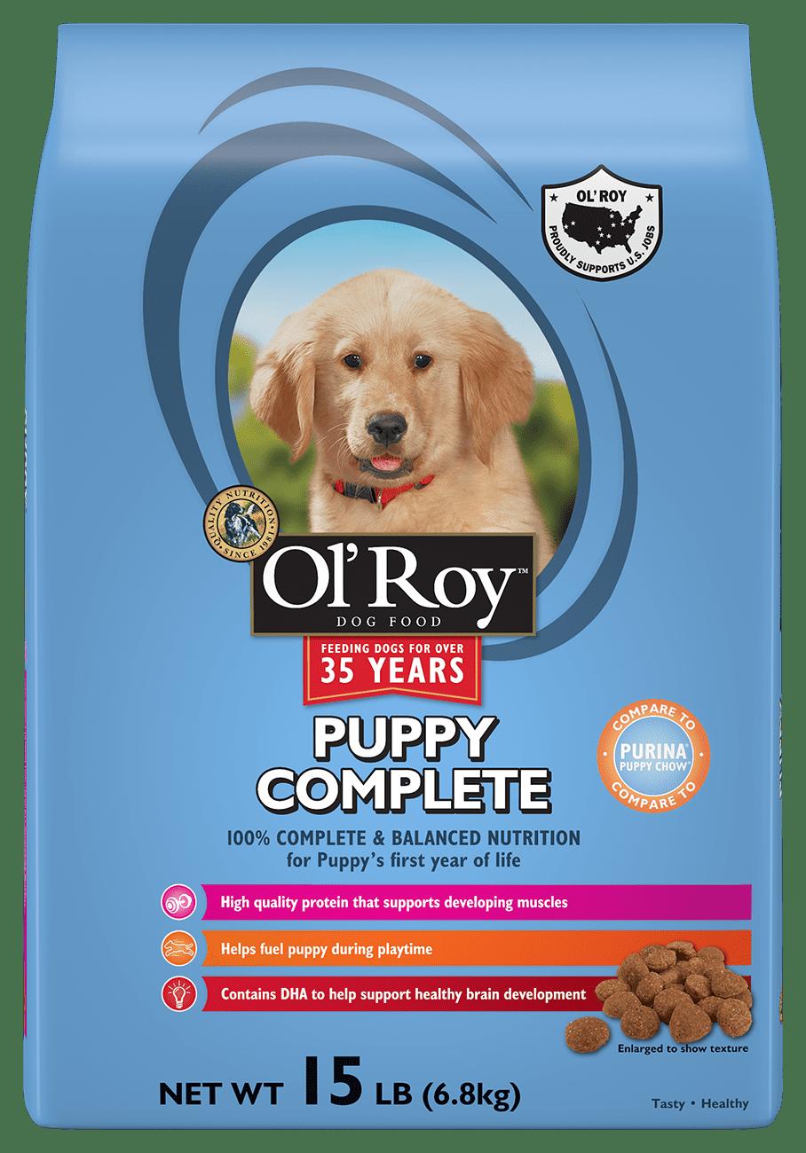 Ol\' Roy Puppy Complete Dry Dog Food, 15 Lb - Walmart.com