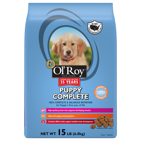 Ol Roy Puppy Complete Dry Dog Food  15 Lb