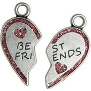 Pewter Best Friends Heart Ornament