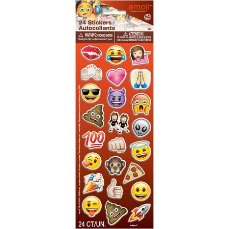 Big Emoji Stickers ((6 Pack) Emoji Puffy Sticker Sheet,)