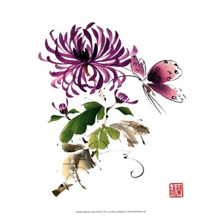 Old World Prints OWP45368D Purple Passion Poster Print by Nan Rae -9.5 x 13 - image 1 of 1