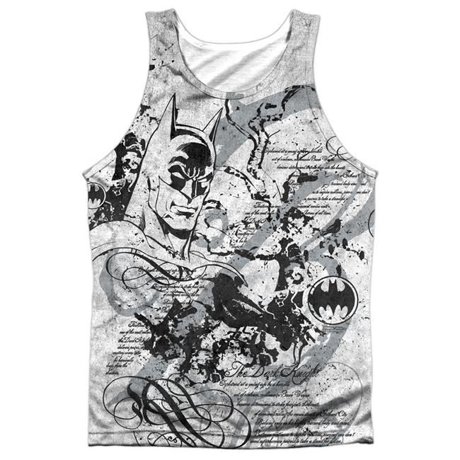 Batman & Tale of the Dark Knigth-Adult Poly Tank Top T-Shirt, White - Small - image 1 de 1