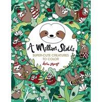 Million Creatures to Color: A Million Sloths (Paperback)