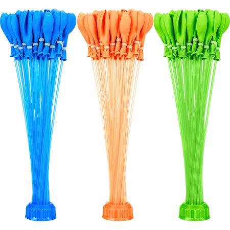 Zuru Bunch O Balloons Blue, Green & Orange 4 1/2 Inches 100 Count (Bunch O Balloons 100)