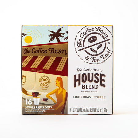 The Coffee Bean & Tea Leaf House Blend Light Roast Single Serve Coffee for Keurig Brewers, 1 Box of 16 (16 Total