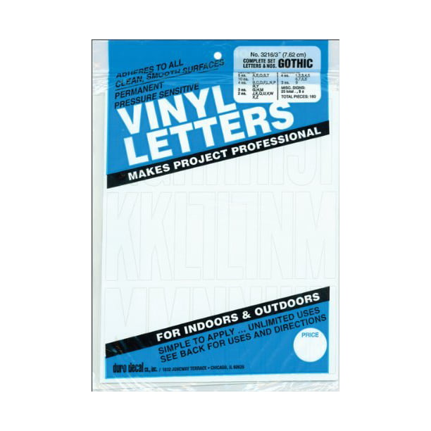 3212 Duro Decal Permanent Adhesive Vinyl Letters Numbers 1 2 Gothic Blue Ebay