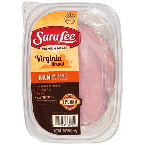 Sara Lee: Virginia Brand Baked Ham Water Added Deli Meat, 16 oz