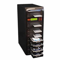 Produplicator SYS107HS-DP Systor 1-7 SATA 2.5 & 3.5 in. Dual Port, Hot Swap Hard Disk & Solid State Drive Duplicator & Sanitizer