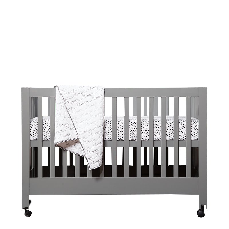 Babyletto Maki Full Size Folding Crib in Black