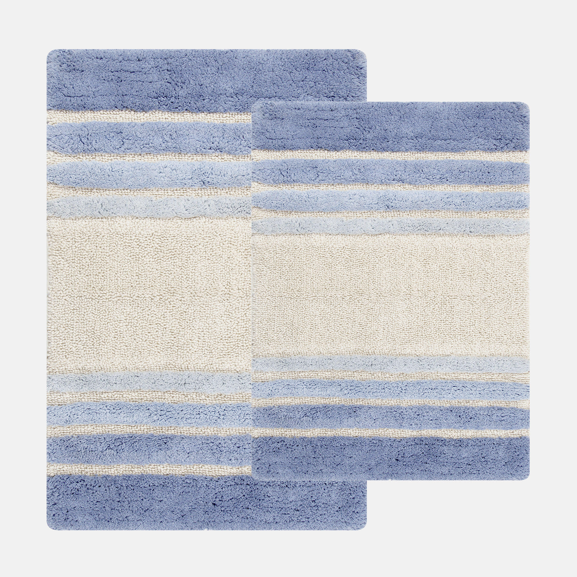 Chesapeake Merchandising Blue Tuxedo Stripe 2-pc. Bath Rug Set