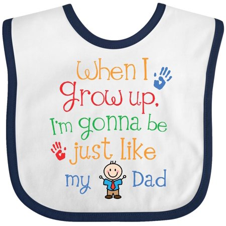 Inktastic Be Just Like My Dad Baby Bib Babys First Fathers