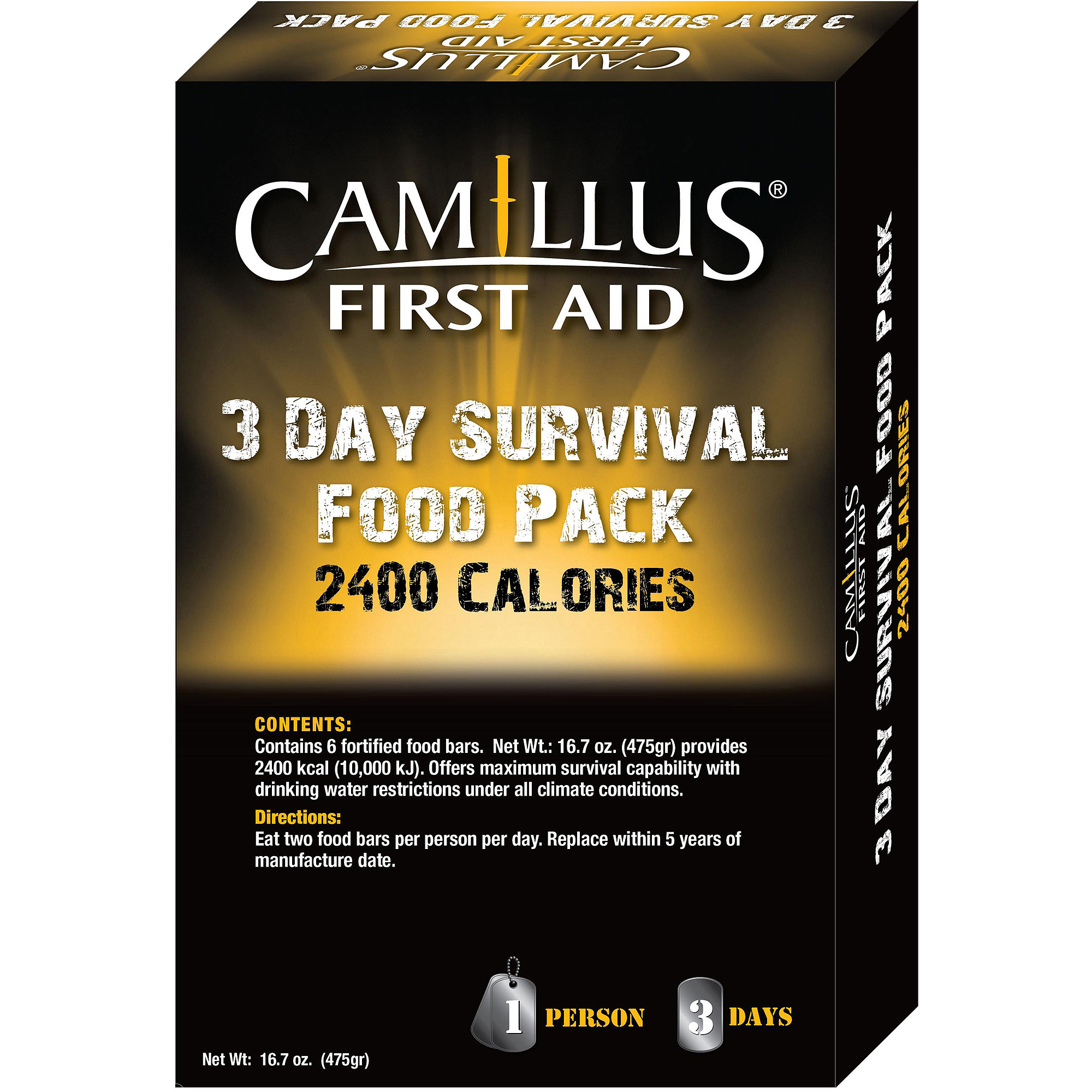 Camillus 3-Day Emergency Food Supply