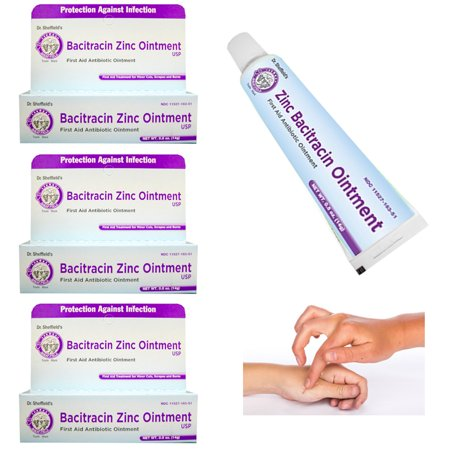 3 X Bacitracin Zinc Ointment First Aid Antibiotic 0.5 Oz 14 g Cream Cuts