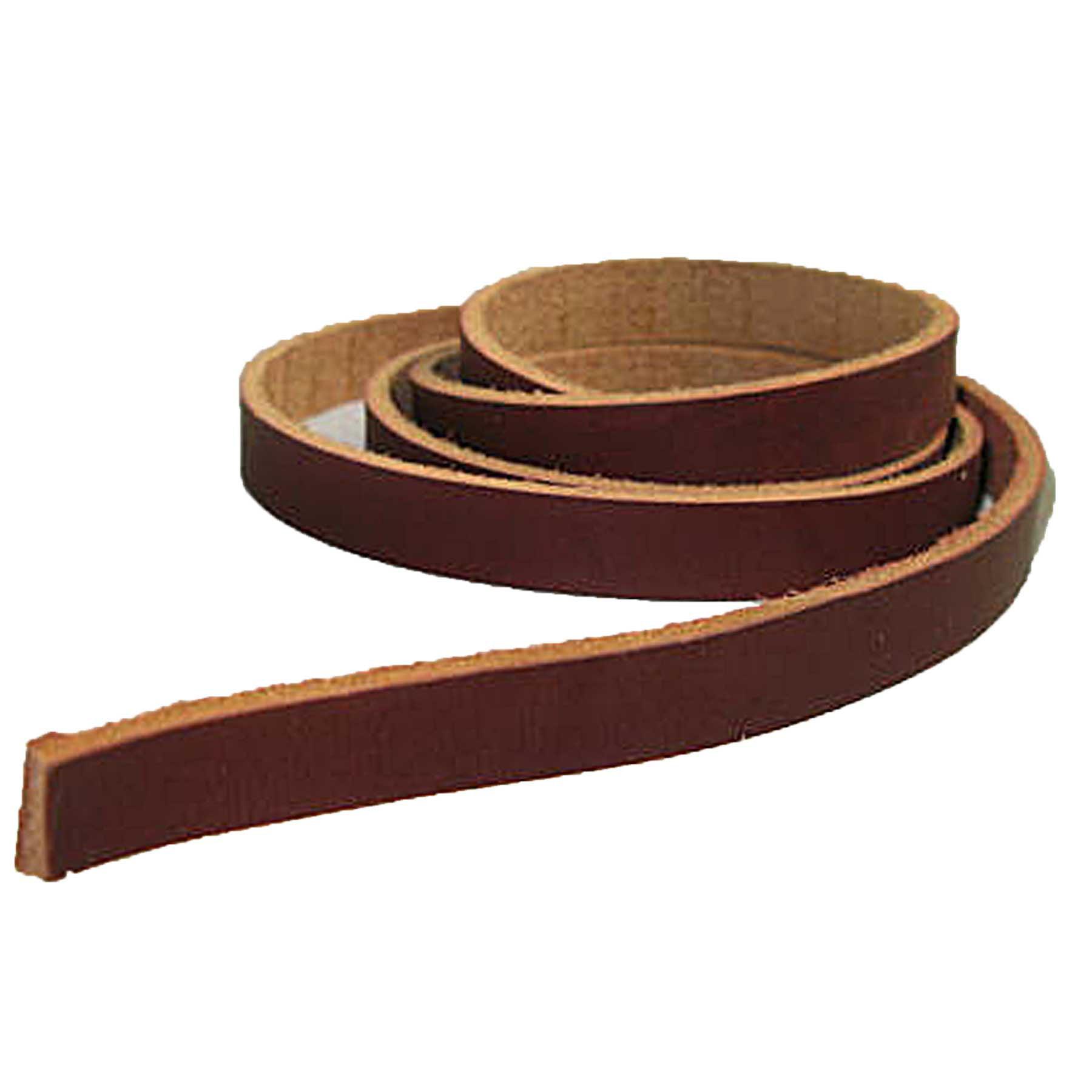 "Latigo Saddle String Leather Strap 1/2"" x 48"" 5008-13 Black"