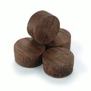 """Walnut Side Grain Screw Hole Plugs 1/2"""" 15 pack"""
