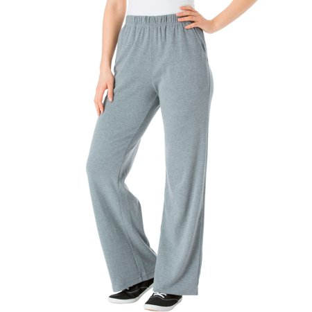 Woman Within Plus Size Petite 7-day Knit Wide Leg Pant