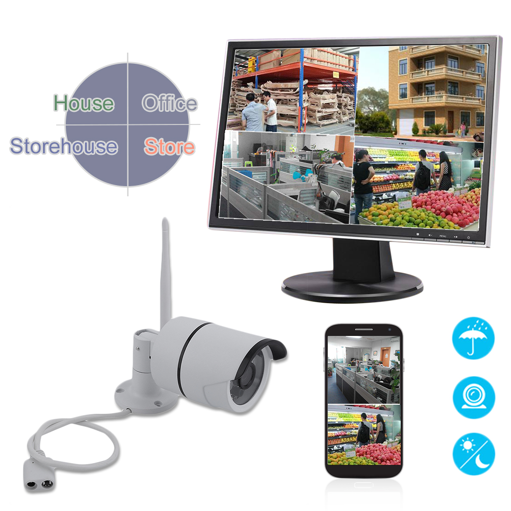 720P Outdoor Wireless WIFI Network Night Vision Motion Dection IP Camera
