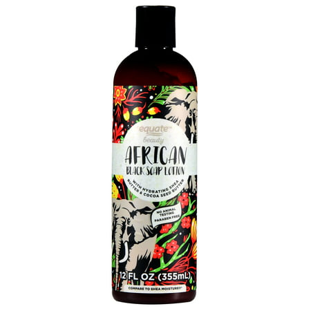 Equate Beauty African Black Soap Lotion, 12 fl oz