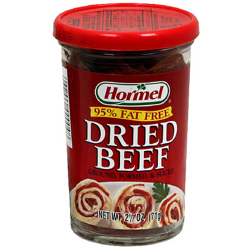 Hormel Ground Formed & Sliced Dried Beef, 2.5 oz (Pack of 12)